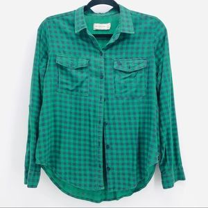 Abercrombie and Fitch Women's Button Plaid  Shirt